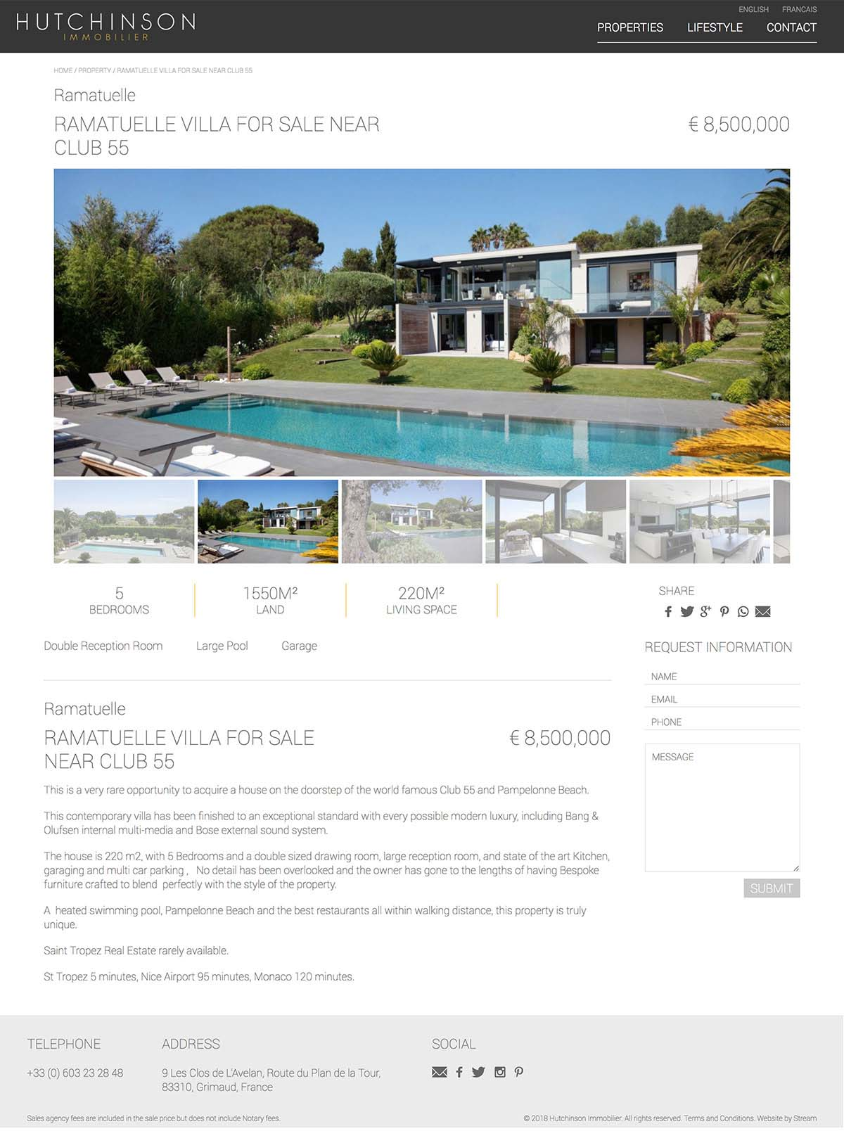 Hutchinson Immobilier property website