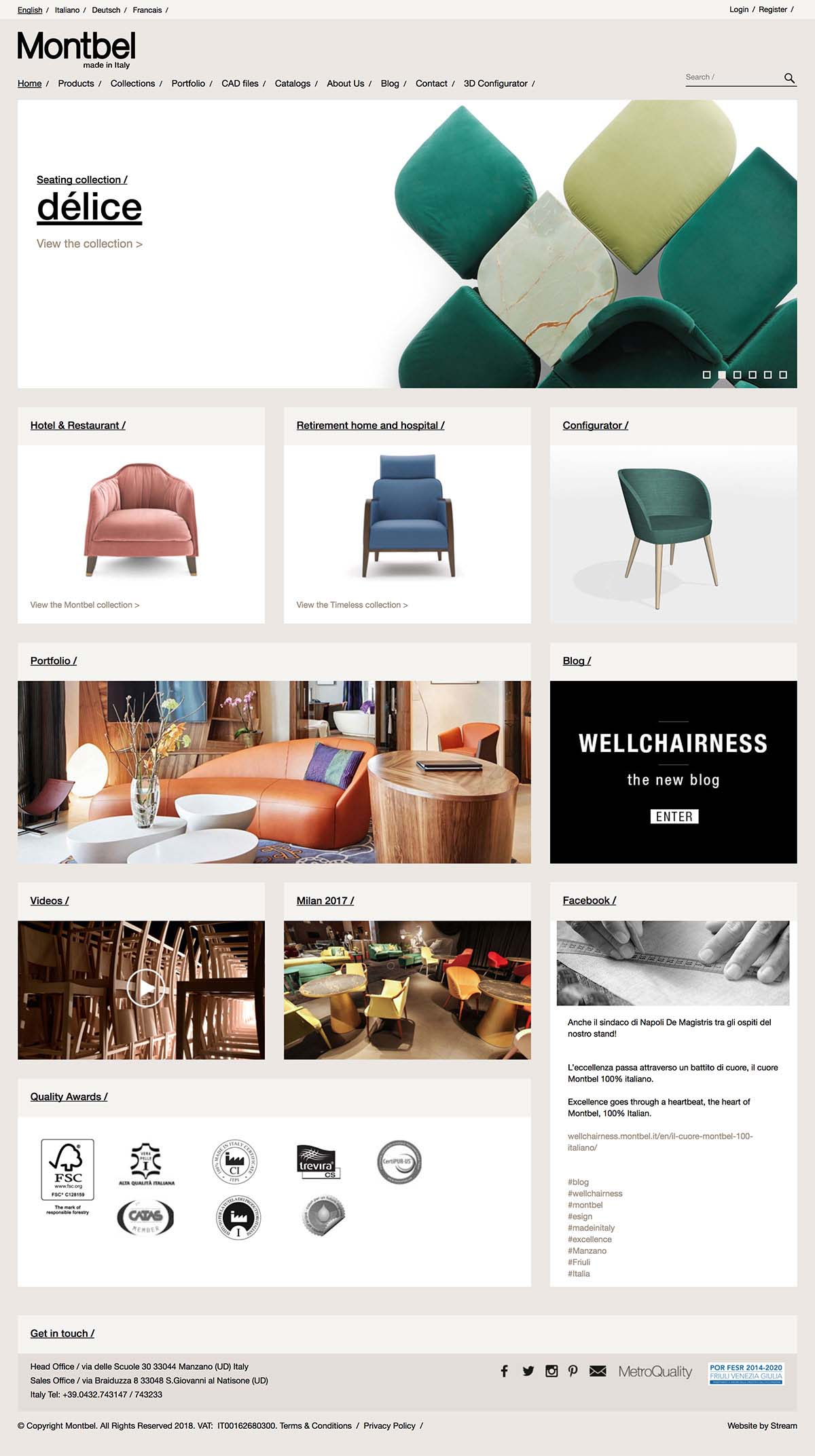 ecommerce homepage for Montbel