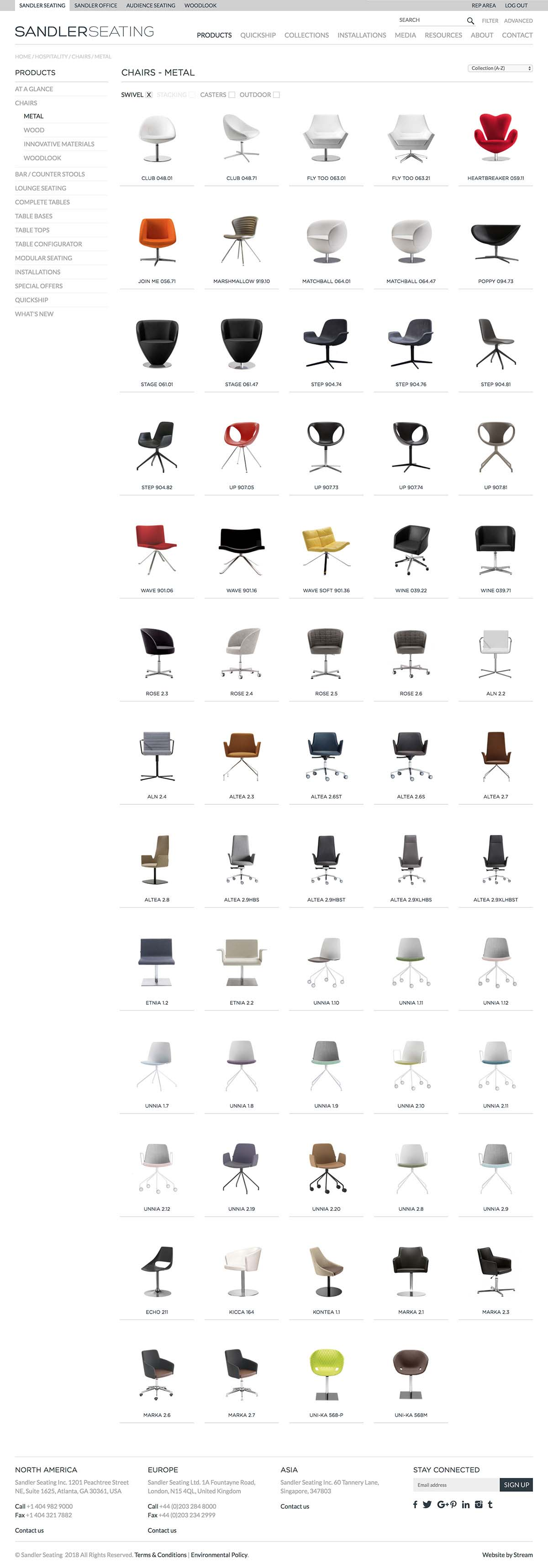 contract furniture product listings