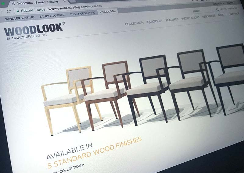 woodblock furniture website development