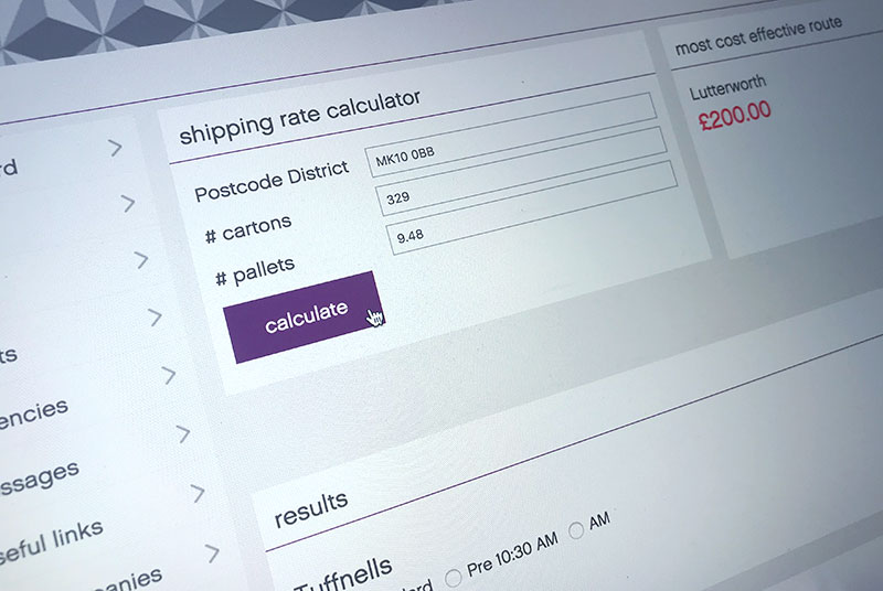 logistics shipping rate calculator