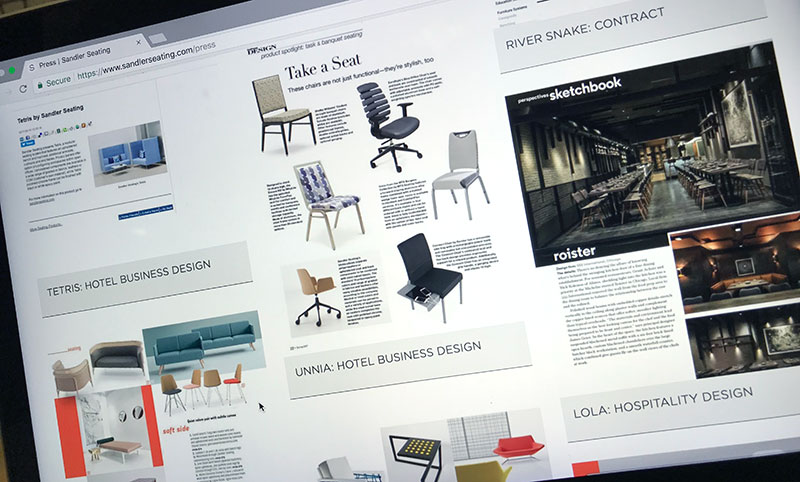contract furniture website press section