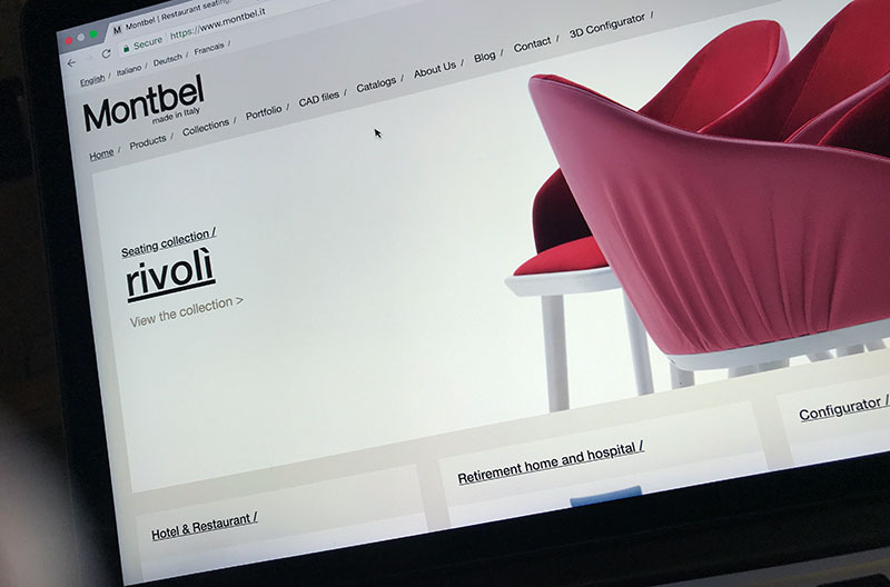revised furniture website for Montbel