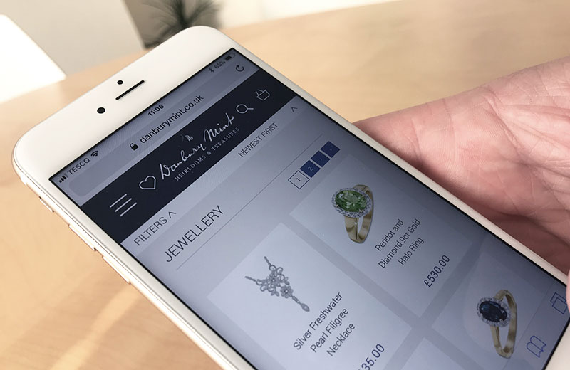 danbury mint mobile ecommerce