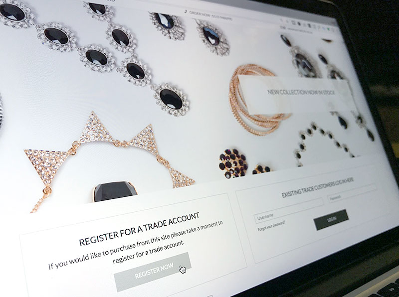 wholesale jewellery and accessories ecommence website